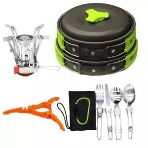 Bisgear Camping Cookware and Stove Set