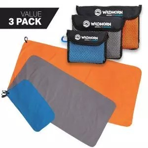 WildHorn Outfitters Microlite Towel Bundle for Camping, Hiking and Backpacking