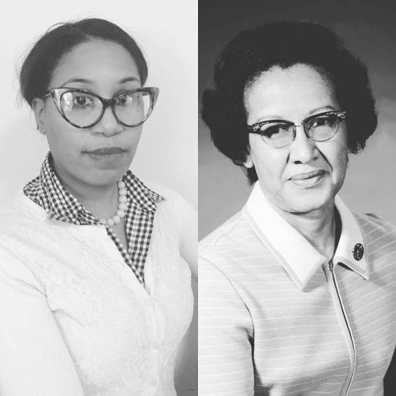 Stephanie as Katherine Johnson