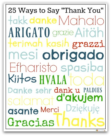 Gambar Terimah Kasih : gambar, terimah, kasih, Multicultural, Thank, Poster:, Printable, Learn