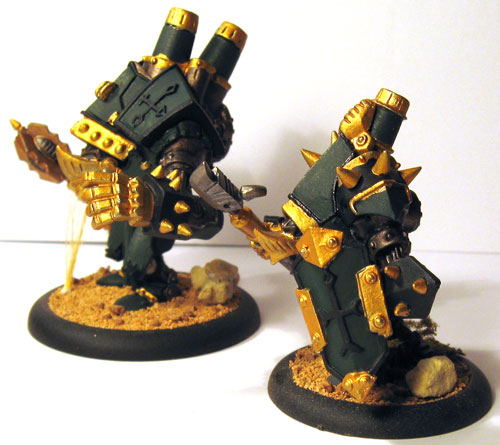 Crusader and Revenger after basing