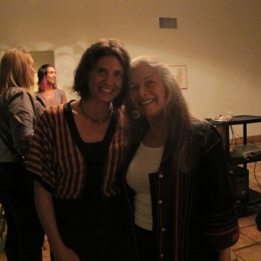 Paulette Frankl, daughter of Paul T. Frankl with publisher Carrie Paterson.