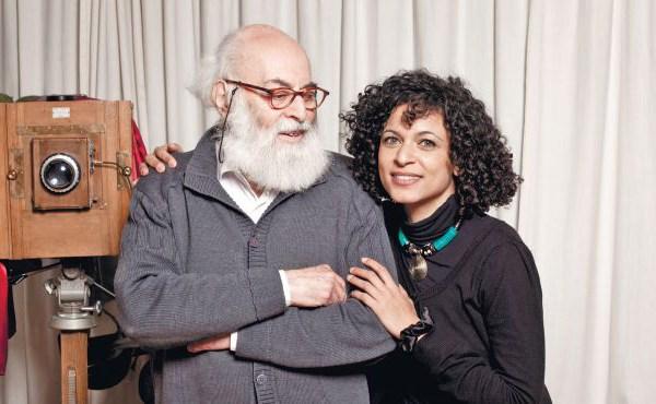 Adolfo Kaminsky with daughter and biographer Sarah Kaminsky. (Amit Israeli)