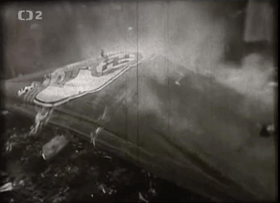 Heda M. Kovály, Hitler Stalin and I - burning Nazi flag upon Soviet liberation