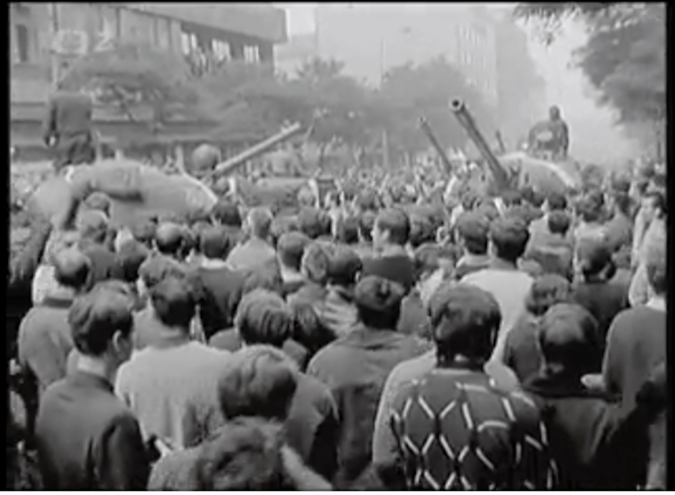 Tanks and people-Soviets crush the Prague Spring