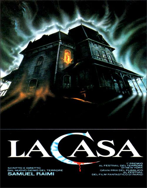 Locandina italiana del film La Casa di Sam Raimi, in cui figura la casa di Psycho