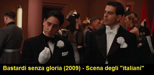 Bastardi senza gloria, scena degli italiani