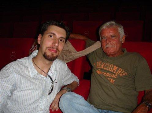 Piero Castiglia con il doppiatore Sergio Di Giulio