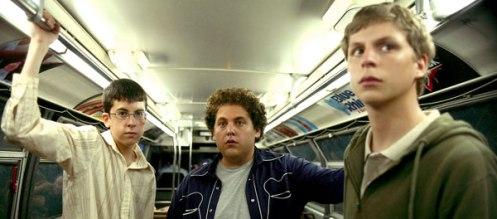 Suxbad, i tre attori del film con espressioni allibite