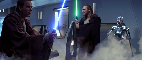 Scena di Star Wars Episodio 1: Gas dioxis pompato nella stanza