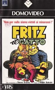 Copertina della VHS di Fritz il gatto stampata dalla Domovideo nel 1988