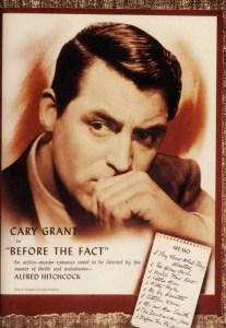 Copertina della biografia di Cary Grant chiamata Before the fact