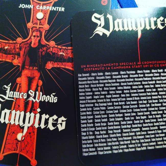 Vampires di John Carpenter, Blu-Ray Cecchi Gori del 2018
