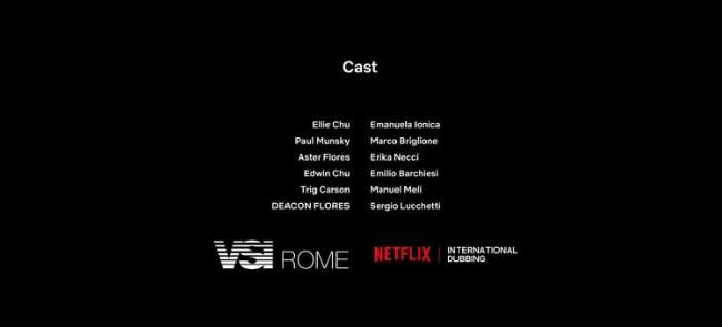 Cast dei doppiatori nel secondo doppiaggio Netflix di L'altra metà (2020)