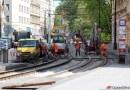 OBRAZEM: Oprava tramvajové trati v úseku Moráň – Palackého náměstí