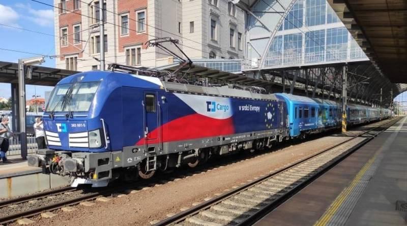 OBRAZEM: Praha přivítala Connecting Europe Express