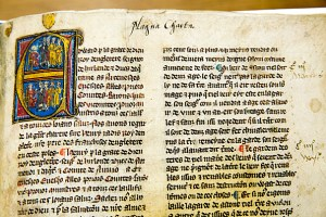 Magna Carta Cum Statutis, ca. 1325, at Harvard Law School library. Jon Chase/Harvard Staff Photographer
