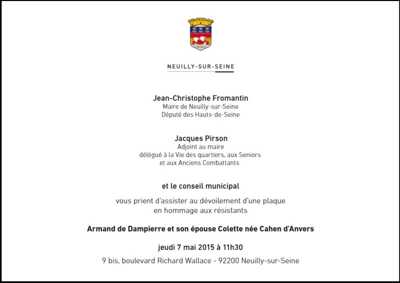 dampierre invitation