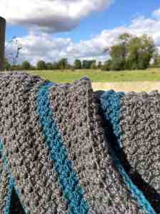 The Crochet Studio Stripe Scarf Pattern by doradoes.co.uk