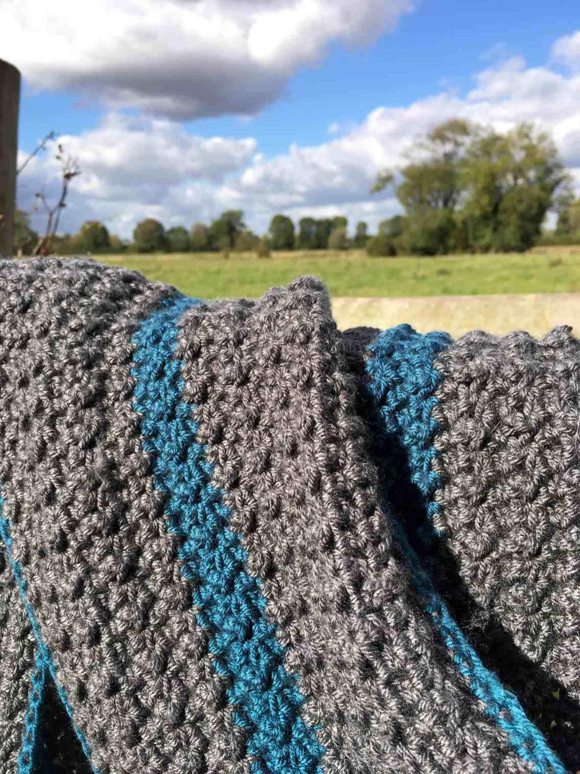 The Crochet Studio Stripe Scarf Pattern by doradoes.co.uk
