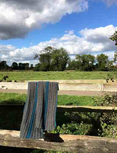 Textured Unisex Crochet Scarf