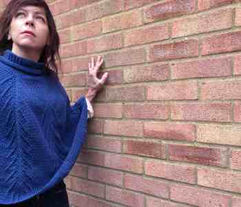 Falling Pines Crochet Roll neck lightweight Poncho Pattern from doradoes.co.uk