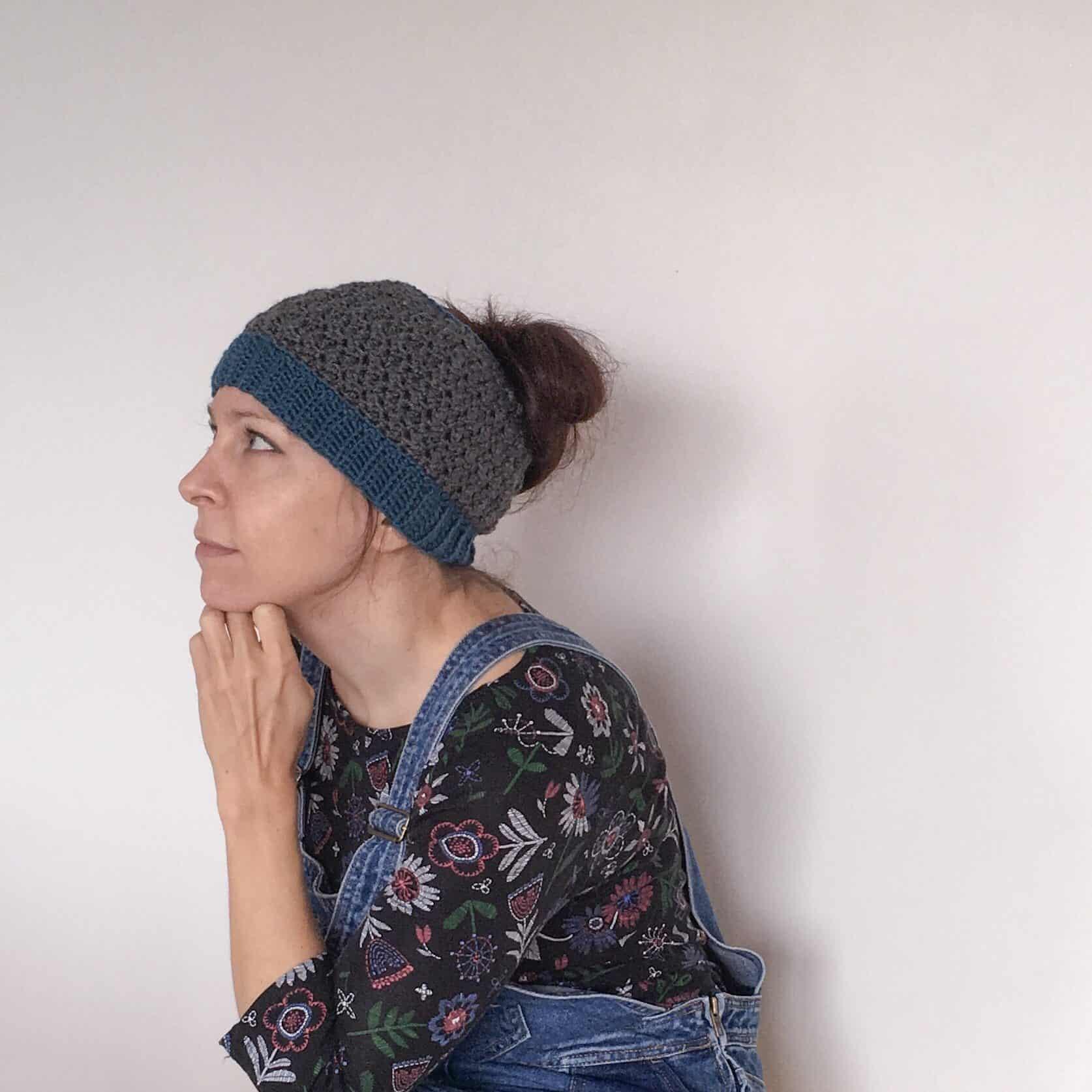 crochet Studio Bun Hat from doradoes.co.uk