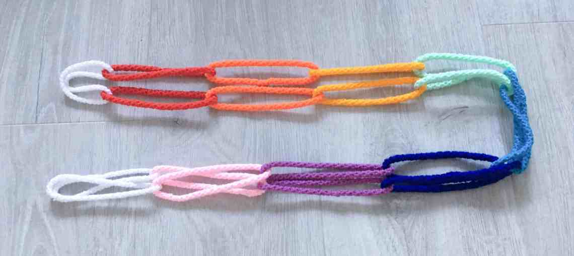 crochet cord paper chain home decoration