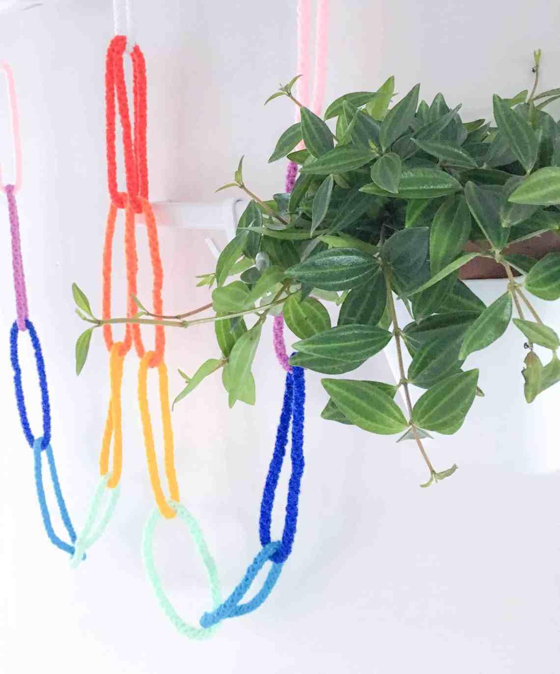 crochet colourful chain free tutorial home decor
