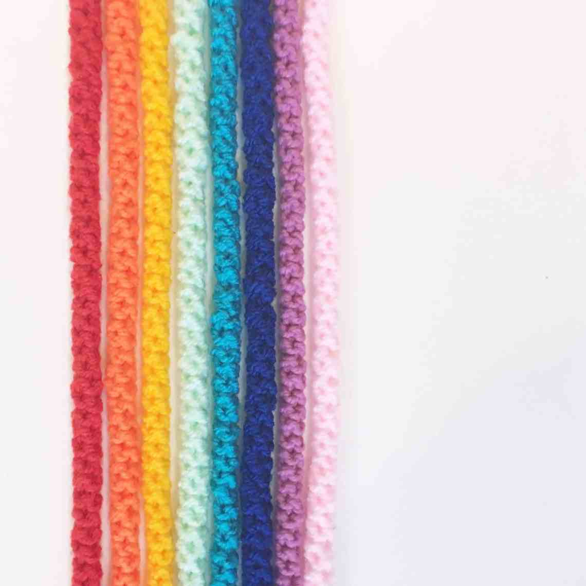 crochet cord tutorial bright rainbow colours