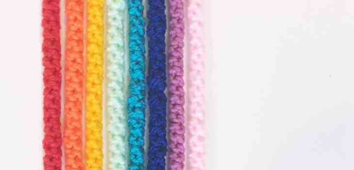 crochet cords rainbow colours