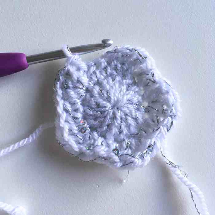 crochet start in progress