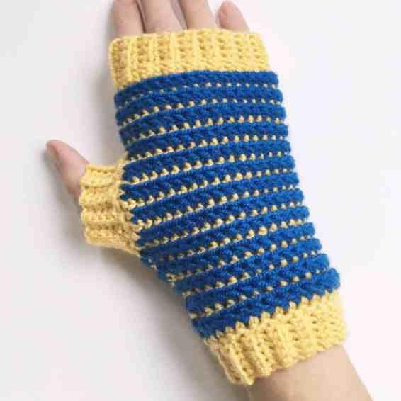 Crochet Fingerless Gloves from Doradoes.co.uk