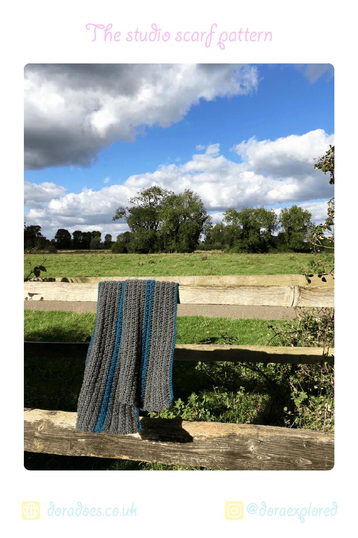 free crochet unisex striped scarf pattern
