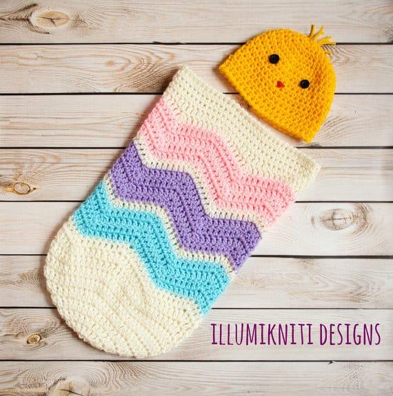 easter egg crochet cocoon newborn set