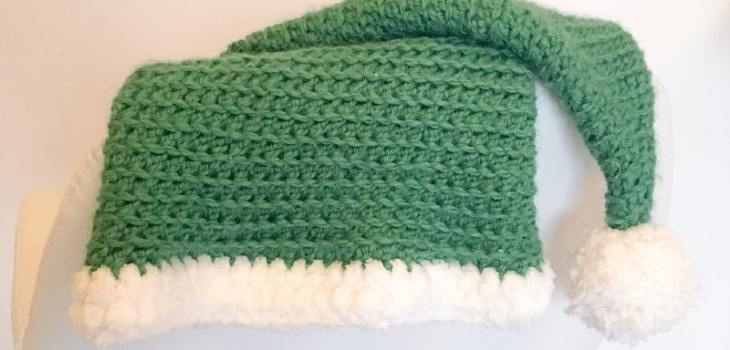 Crochet Elf hat with pom pom
