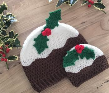 Christmas Pudding Crochet hat