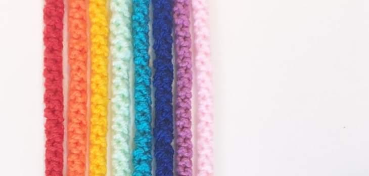 rainbow crochet cord