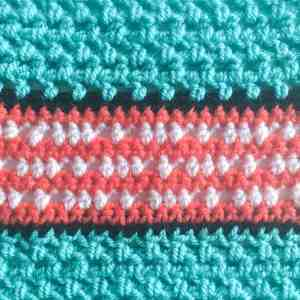 crochet stitch pattern swatch