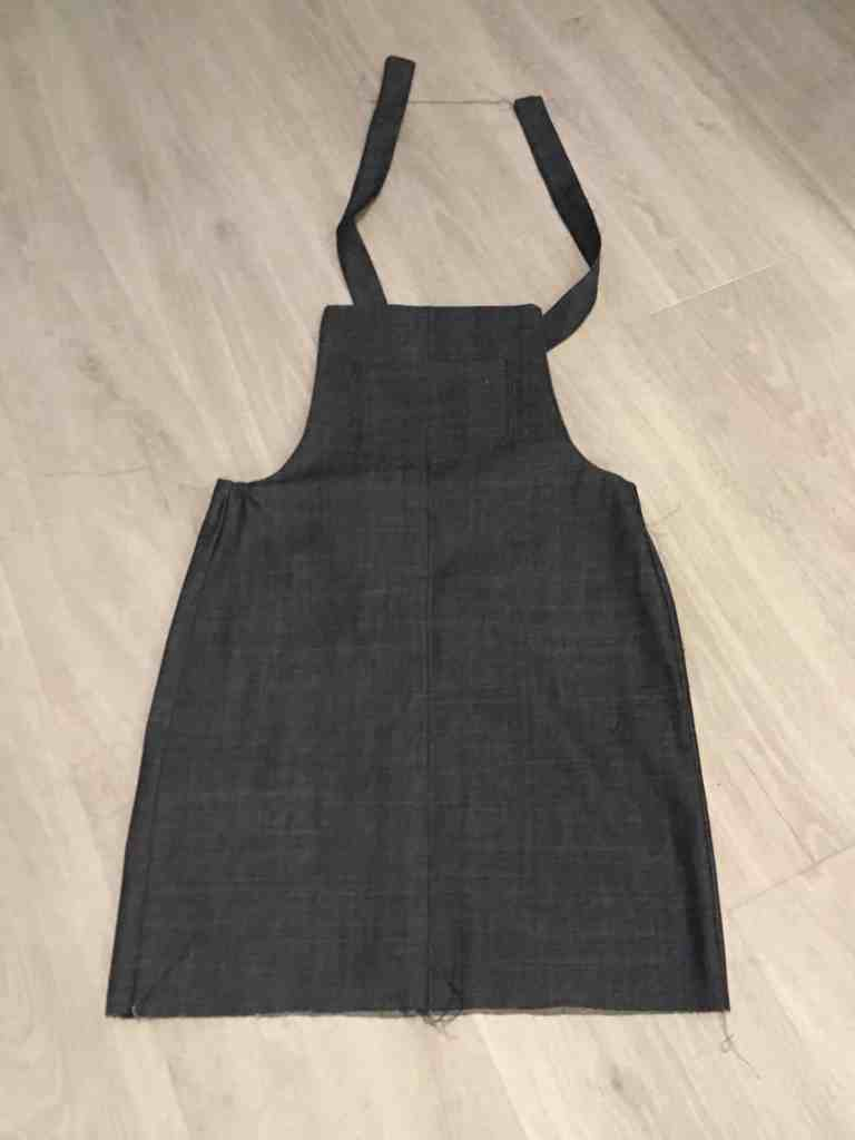 almost finished cleo pinafore dungaree dress