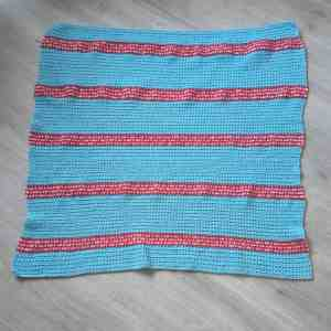 crochet stripy rectangle