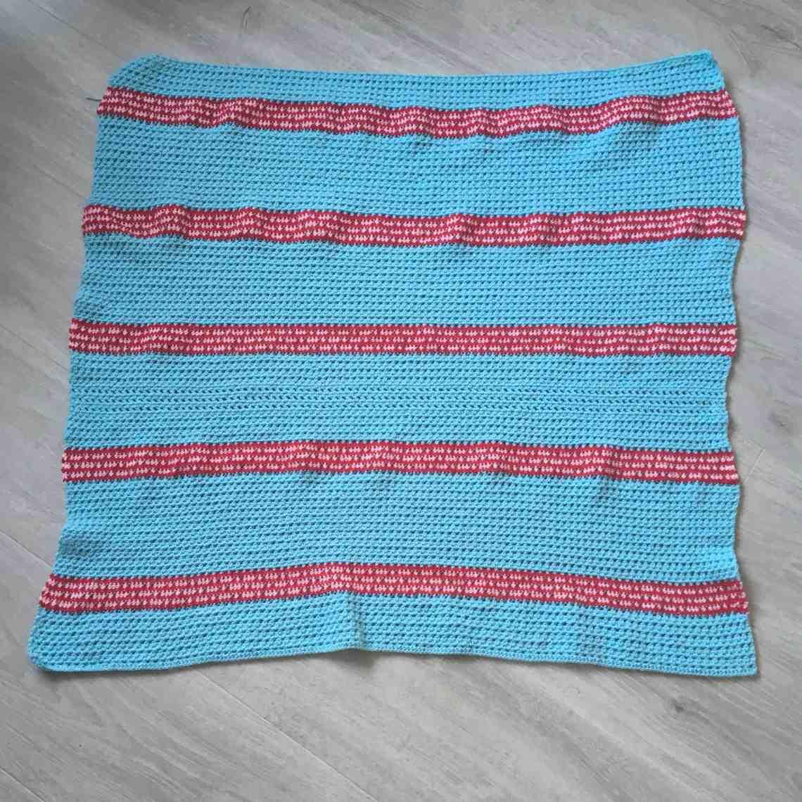 crochet stripy rectangle