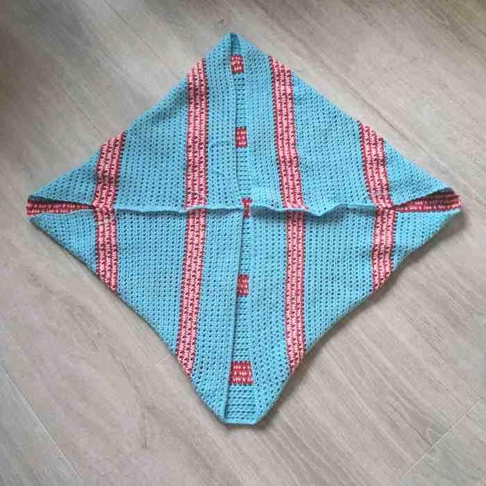 crochet shrug construction