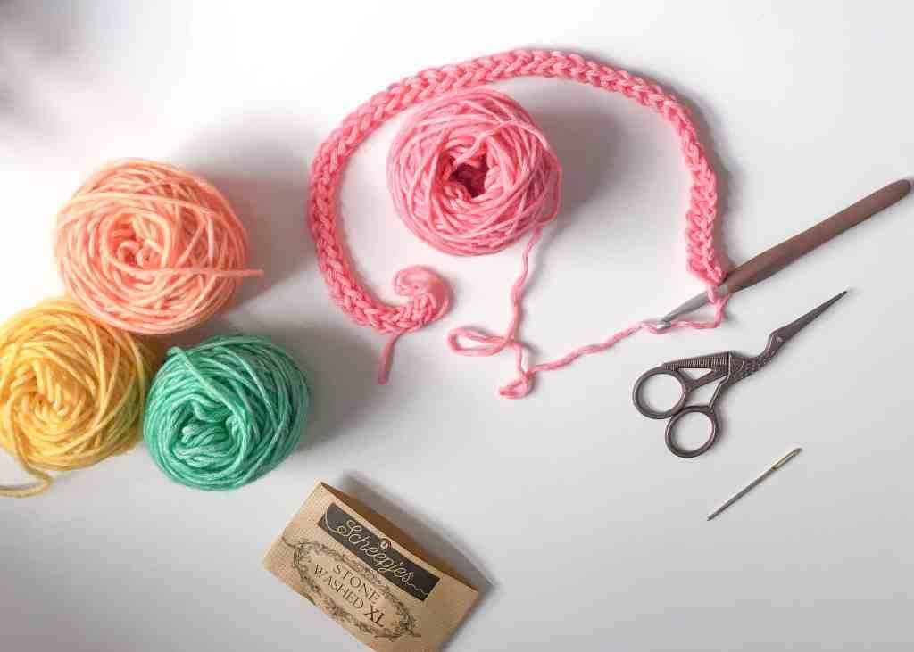 maslows rainbow cal crochet foundation chain