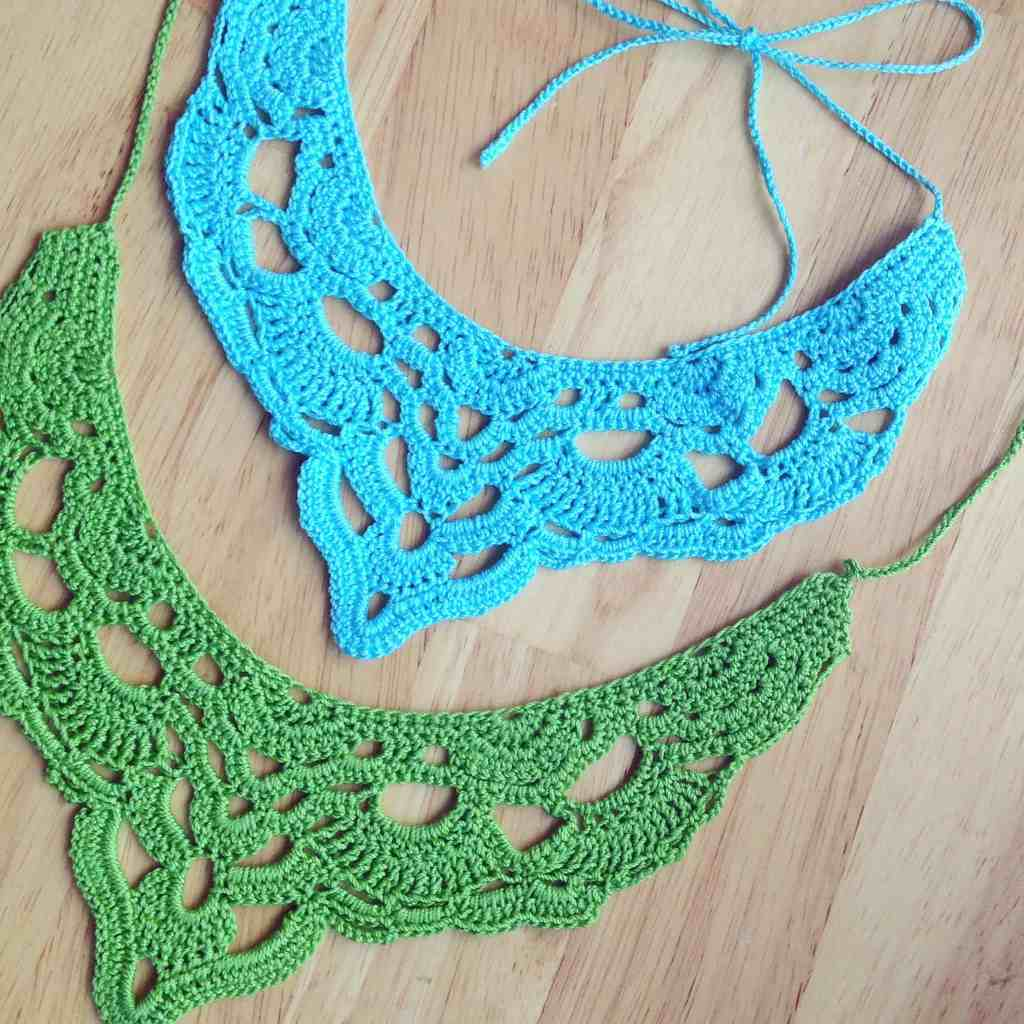 cotton thread crochet necklace