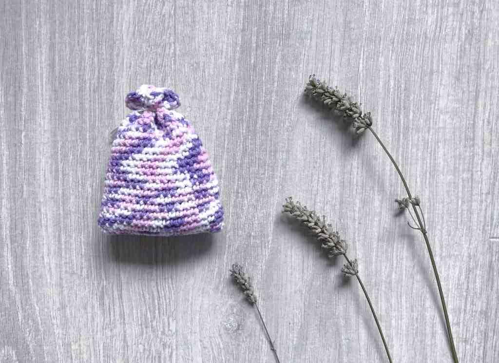 lavender sachet with lavender flowers