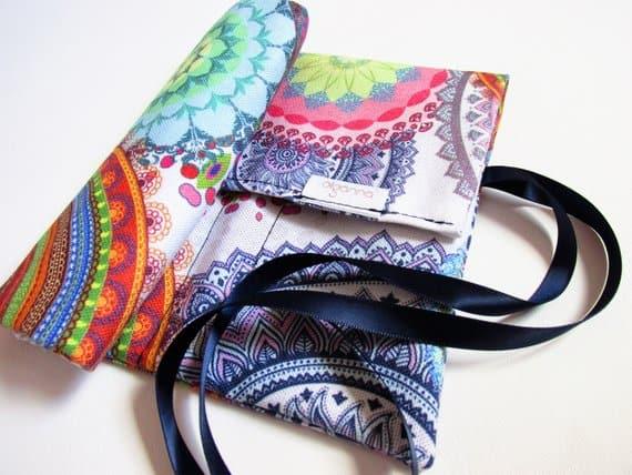 colourful mandala crochet hook holder