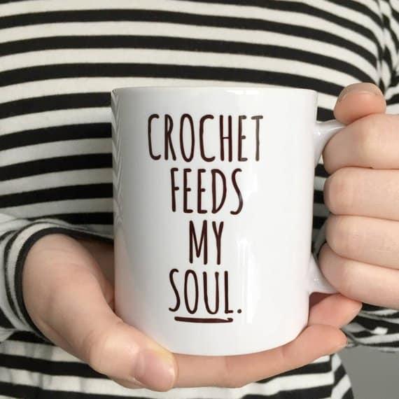 Crochet feeds my soul mug