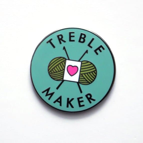treble maker yarn pin