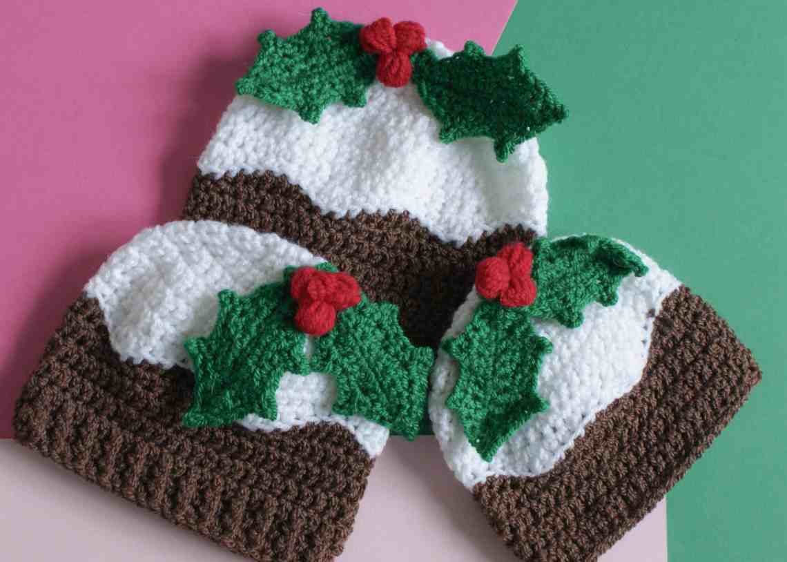 Christmas Pudding Crochet Hat Pattern